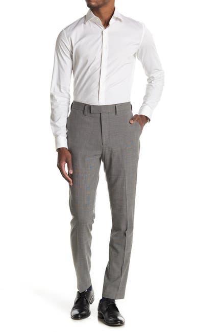Image of Louis Raphael Stretch Wool Micro Dobby Slim Fit Pants