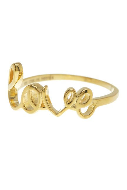Image of Sterling Forever 14K Gold Plated Sterling Silver Love Ring