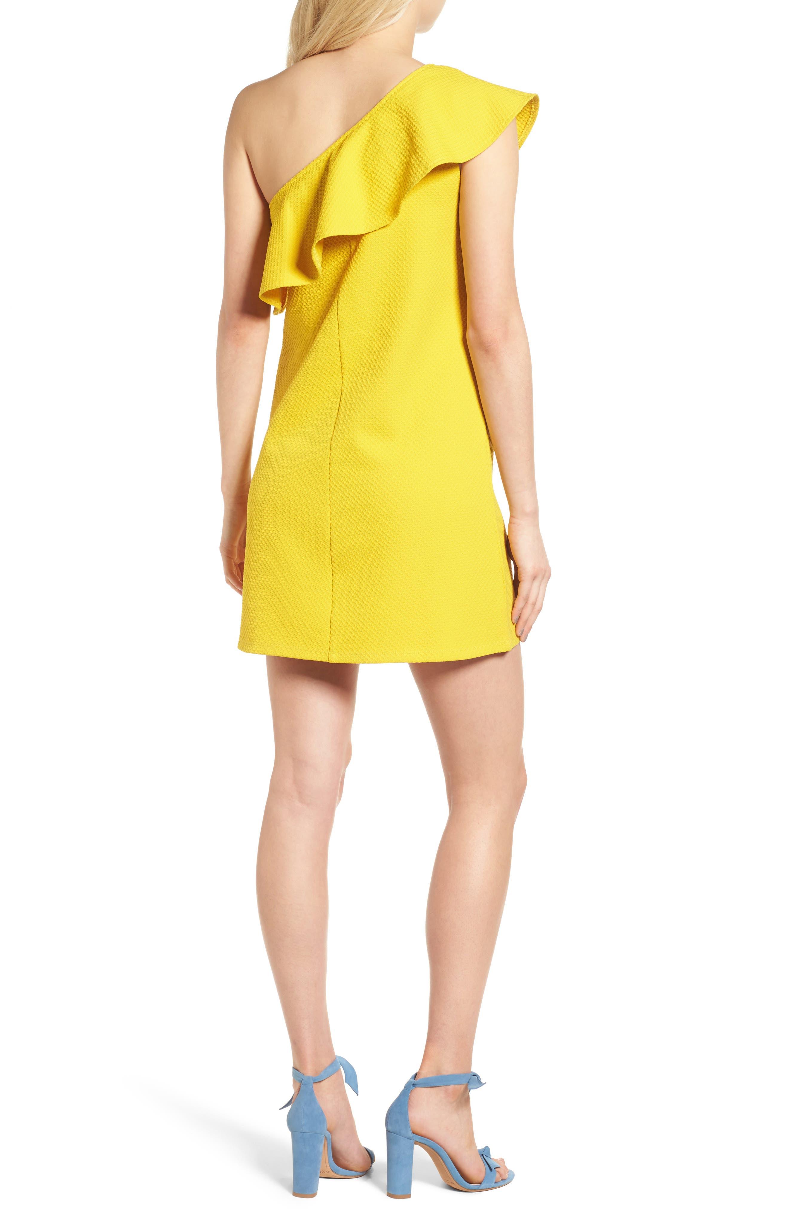 ,                             Ruffle One-Shoulder Dress,                             Alternate thumbnail 8, color,                             750
