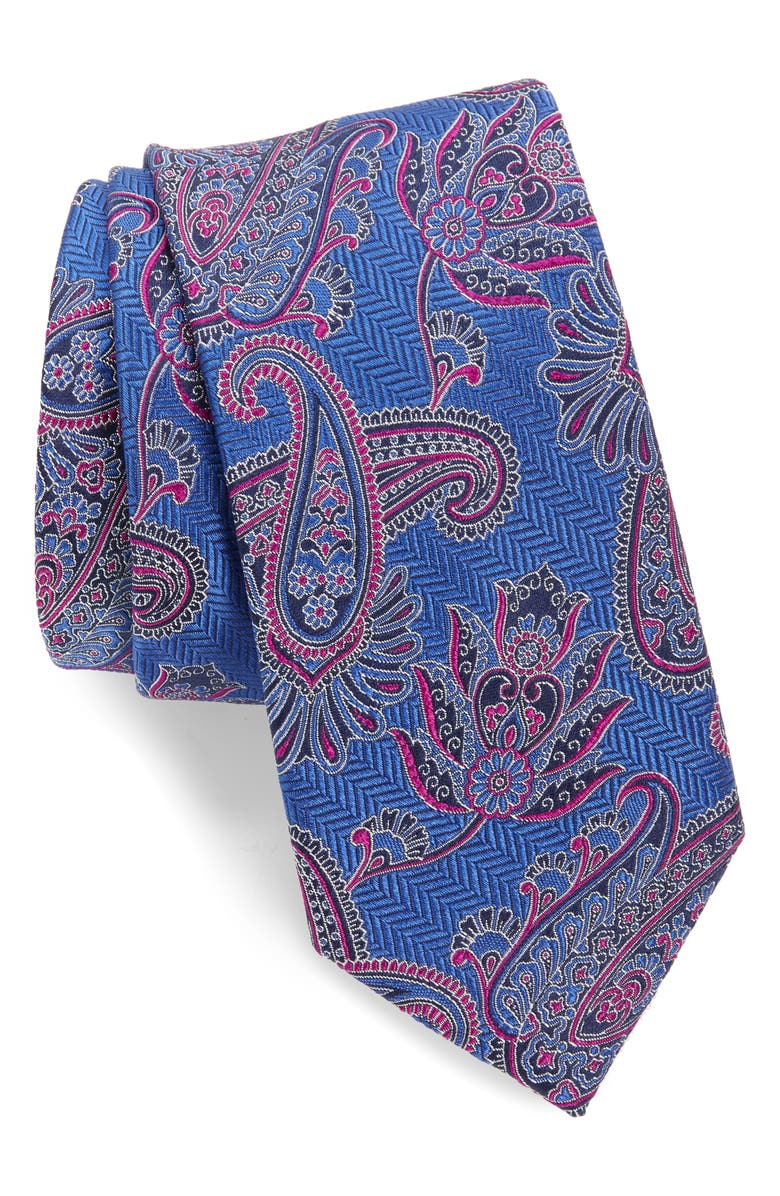 TED BAKER LONDON Paisley Silk Tie, Main, color, BLUE