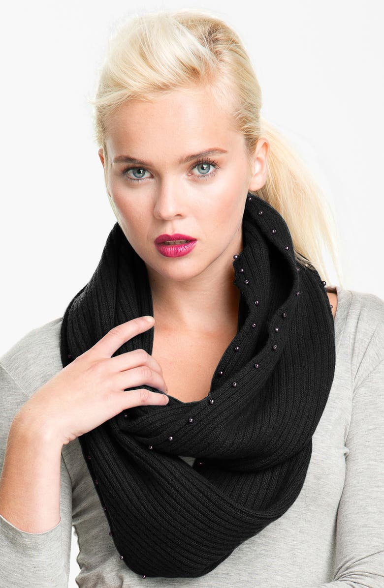 LAUNDRY BY SHELLI SEGAL Wool Infinity Scarf, Main, color, 001