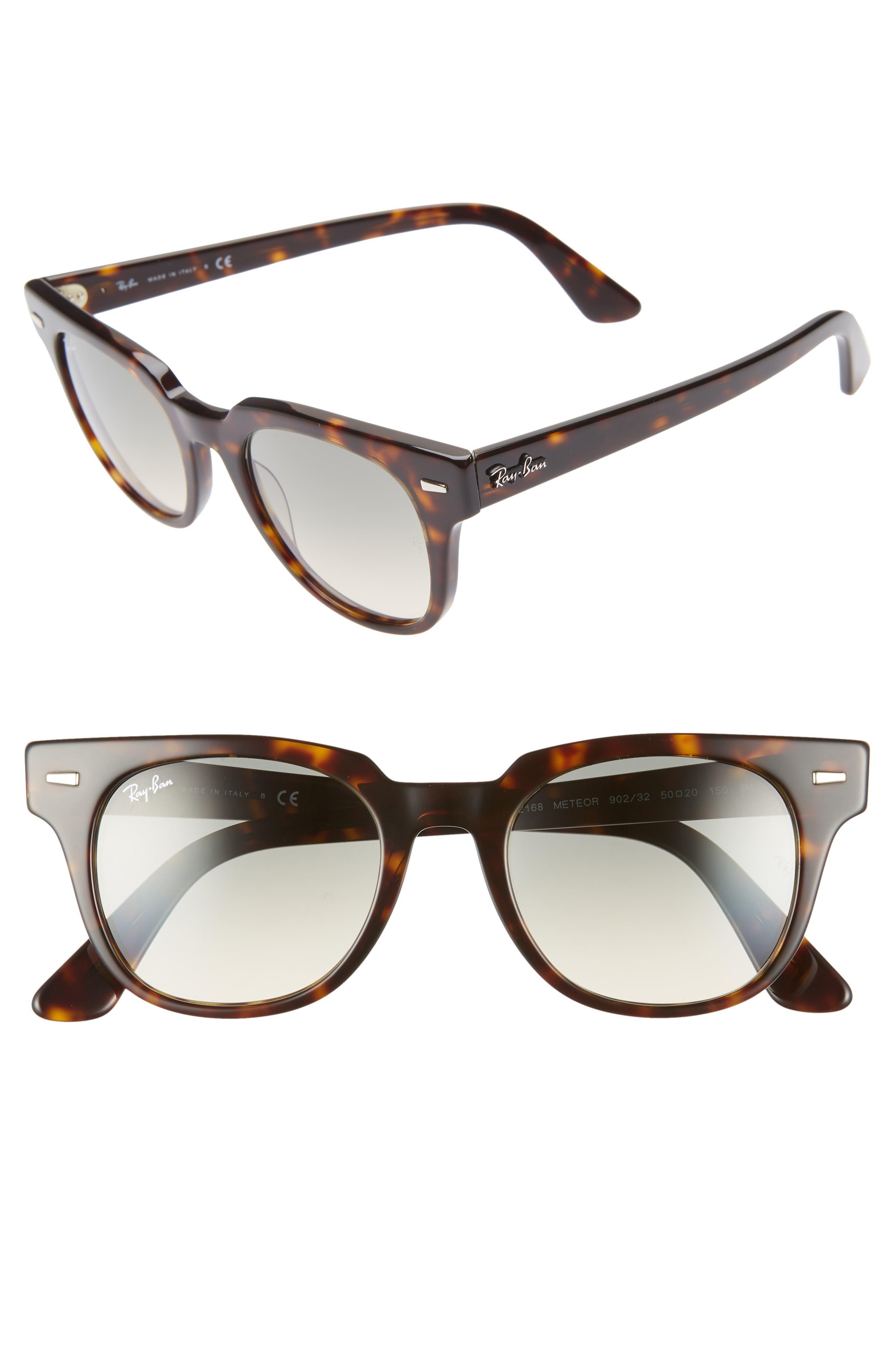 Ray-Ban Meteor 50Mm Gradient Wayfarer Sunglasses - Havana Gradient