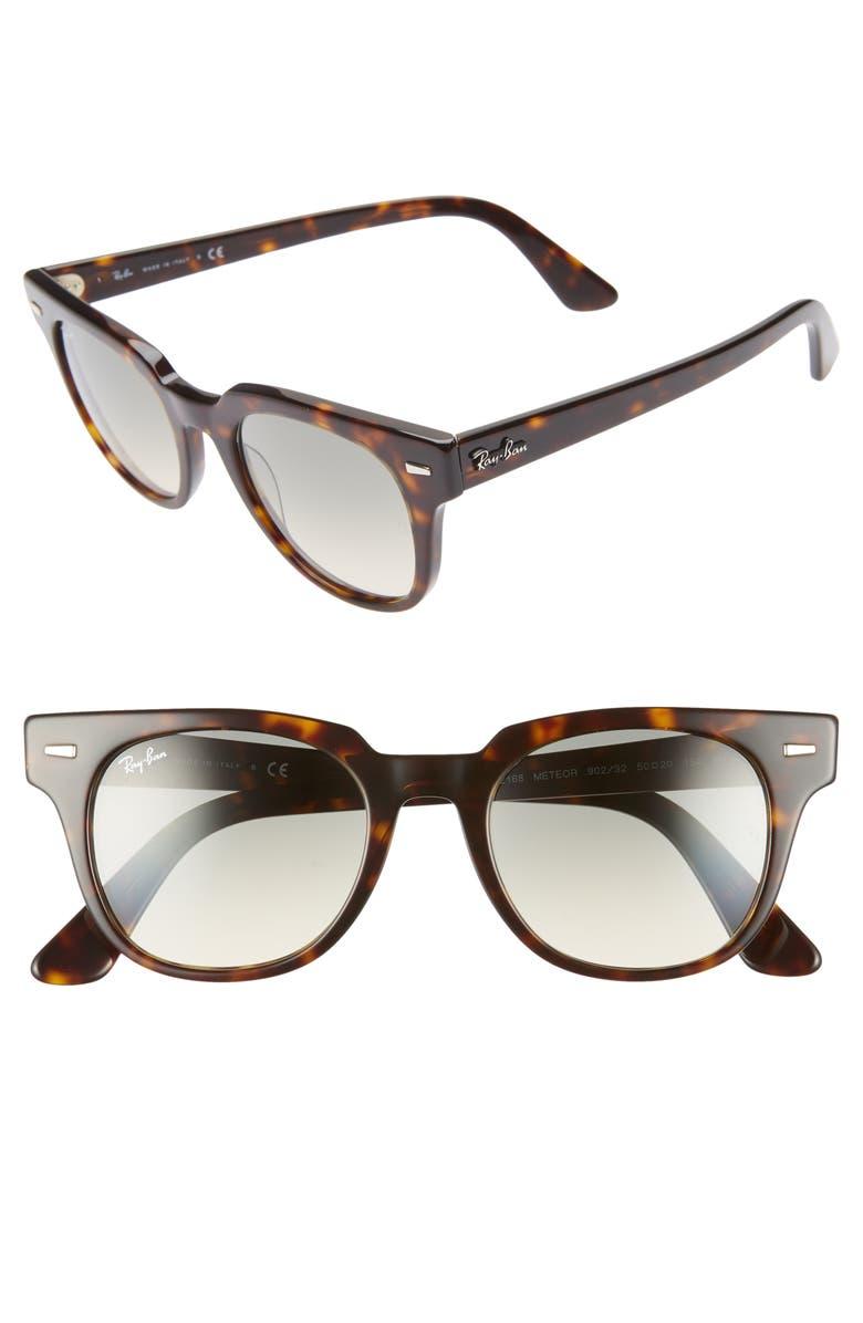 RAY-BAN Meteor 50mm Gradient Wayfarer Sunglasses, Main, color, HAVANA GRADIENT