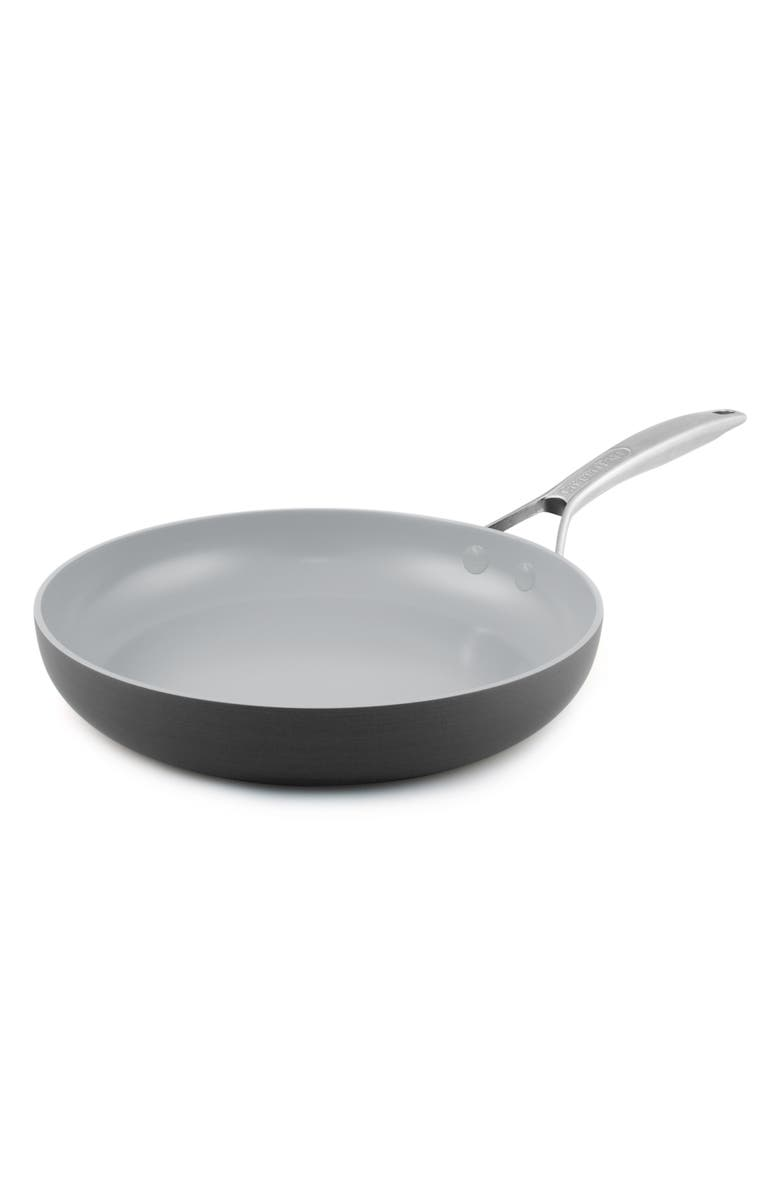 GREENPAN Paris 10-Inch Anodized Aluminum Ceramic Nonstick Frying Pan, Main, color, GREY