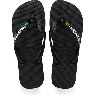 Havaianas Brazil Flip Flop, /12- Black
