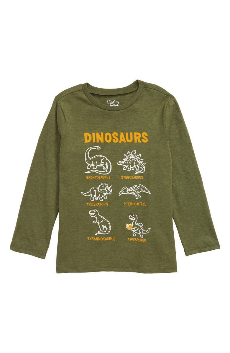 HATLEY Dino Chart Graphic T-Shirt, Main, color, GREEN