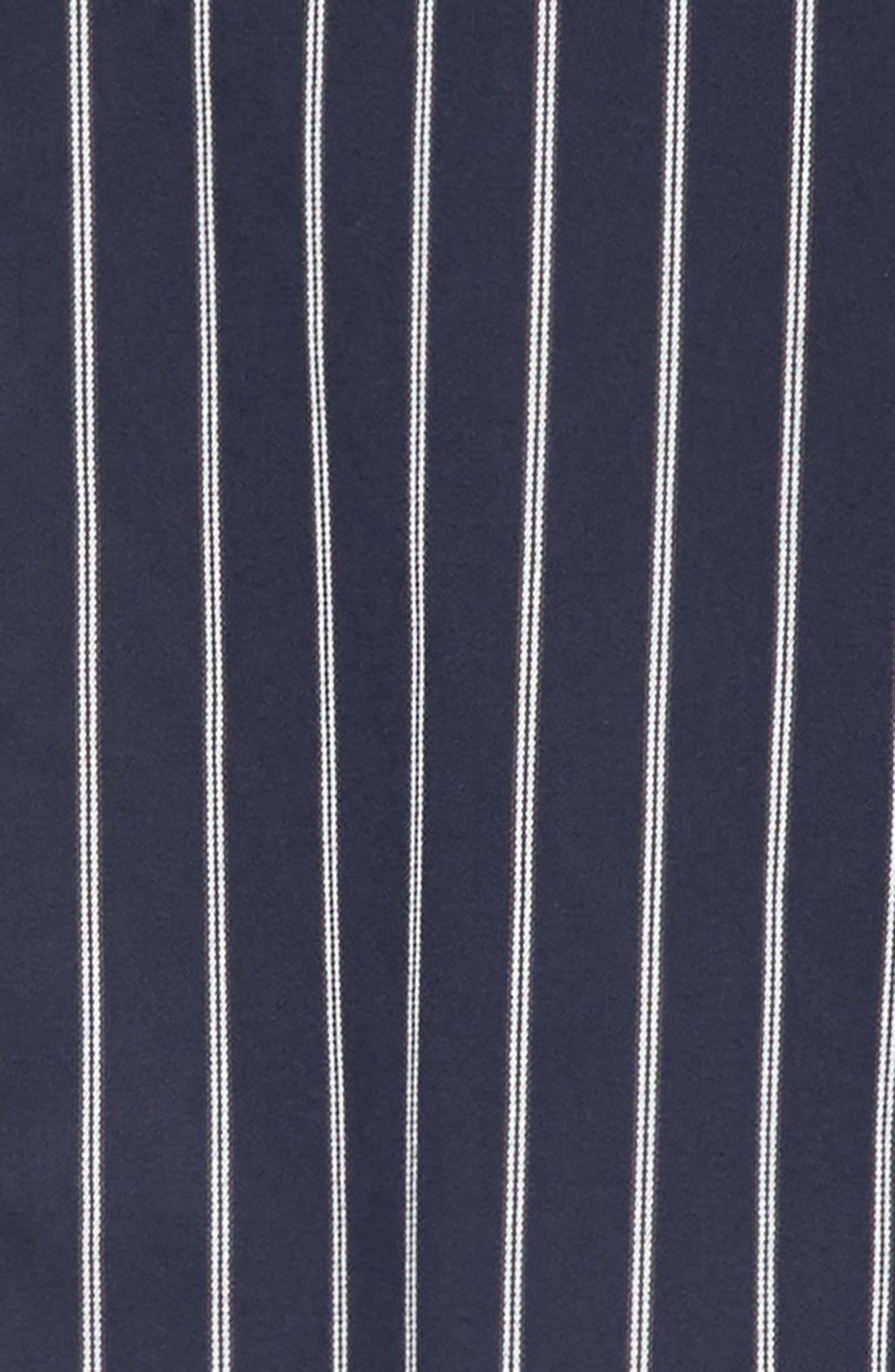 ,                             Mint Stripe Extra Slim Fit Sport Shirt,                             Alternate thumbnail 7, color,                             DARK NAVY