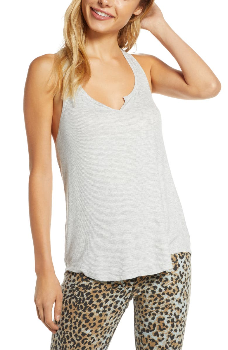 MAKE + MODEL You Know It Rib Tank, Main, color, GREY PEARL HEATHER