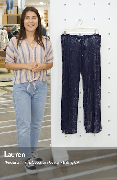 Poetic Split Wide Leg Cover-Up Pants, sales video thumbnail