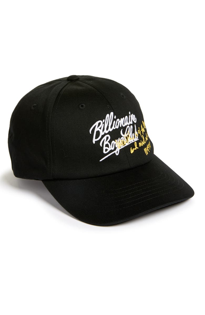 BILLIONAIRE BOYS CLUB Wealth Embroidered Baseball Cap, Main, color, 001