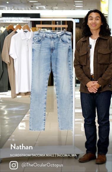 Everett Ripped Black Slim Straight Leg Jeans, sales video thumbnail