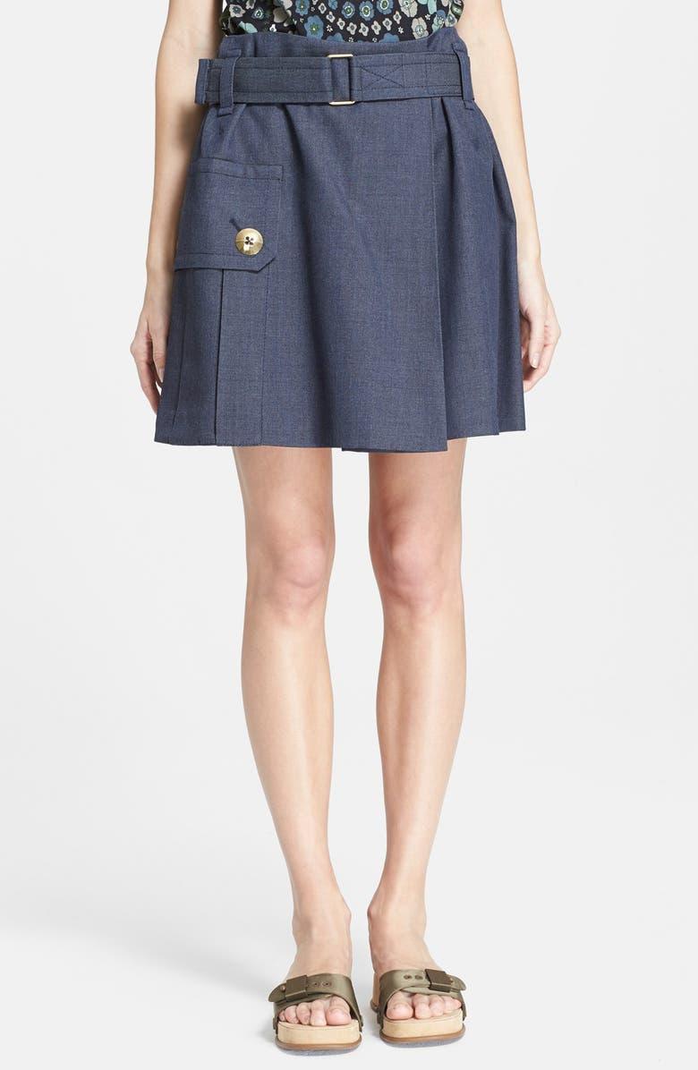 MARC JACOBS Mélange Suiting Skirt, Main, color, 400