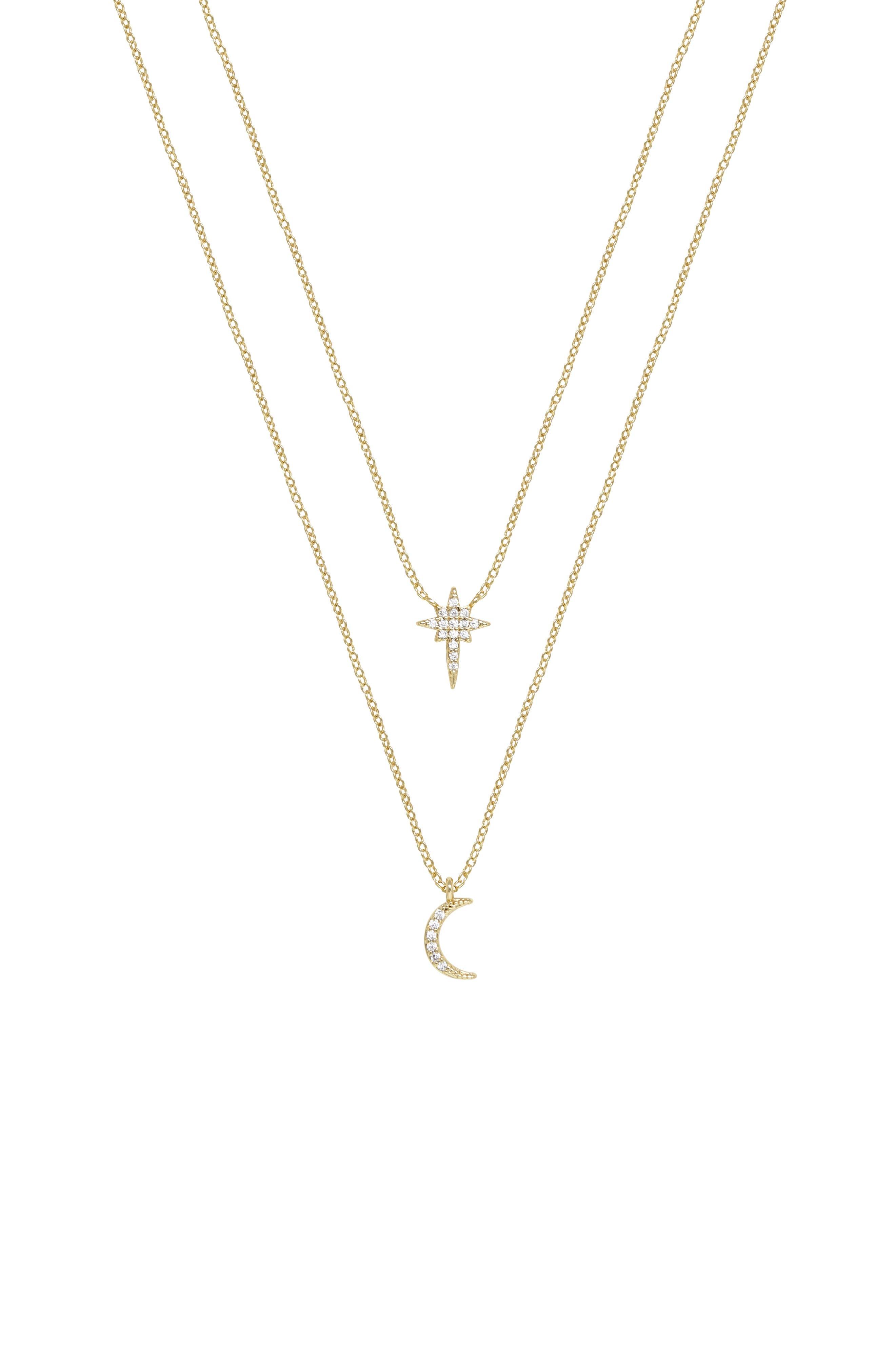 Celestial Set Of 2 Pendant Necklaces