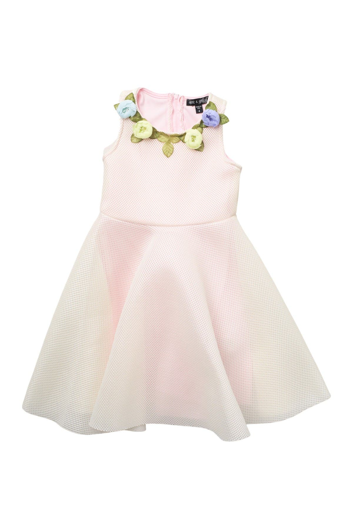 Image of AVA AND YELLY 3D Flowers Texture Skater Dress