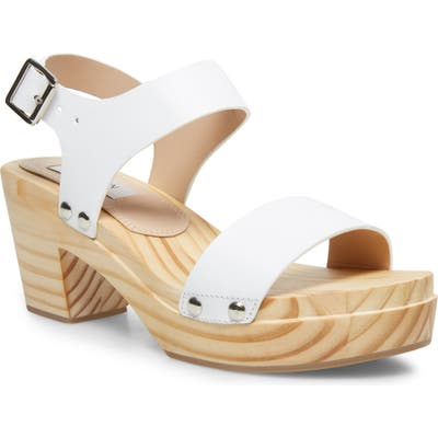 Steven New York Fabee Platform Sandal, White