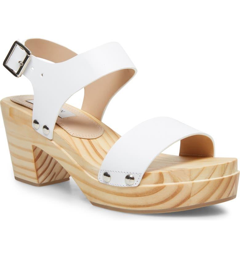 STEVEN NEW YORK Fabee Platform Sandal, Main, color, WHITE LEATHER