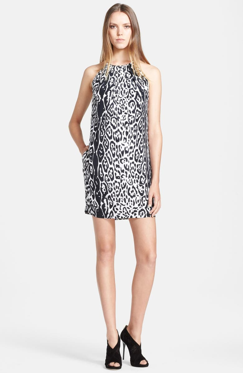 JAY BY JAY GODFREY Jay Godfrey 'Henley' Leopard Print Silk Dress, Main, color, 001