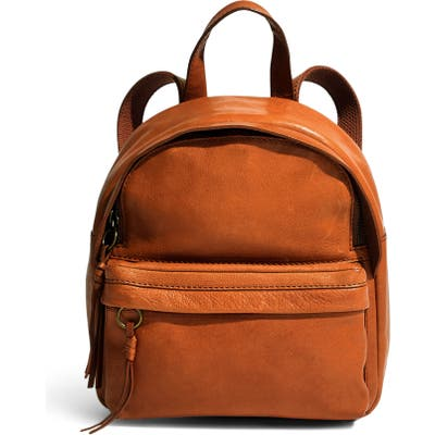 Madewell Mini Lorimer Leather Backpack -