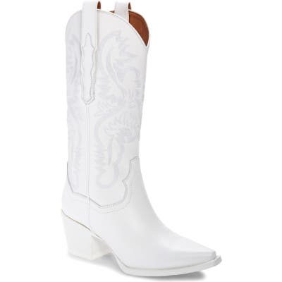 Jeffrey Campbell Dagget Western Boot- White
