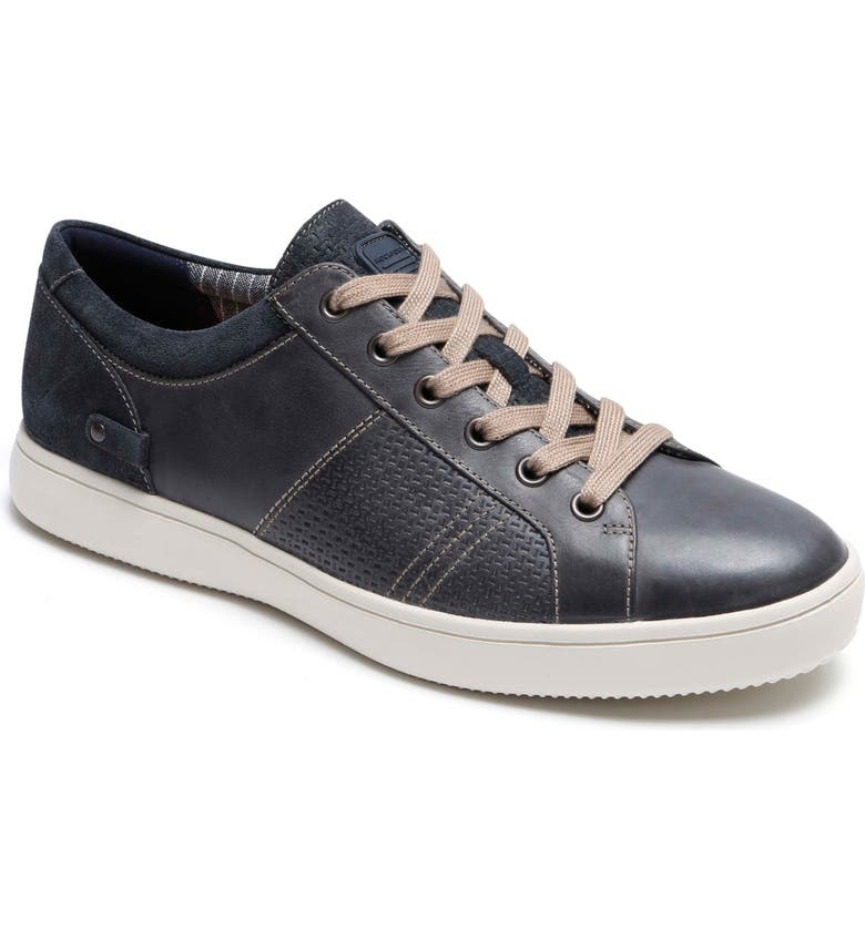 ROCKPORT Colle Textured Sneaker, Main, color, GREY LEATHER