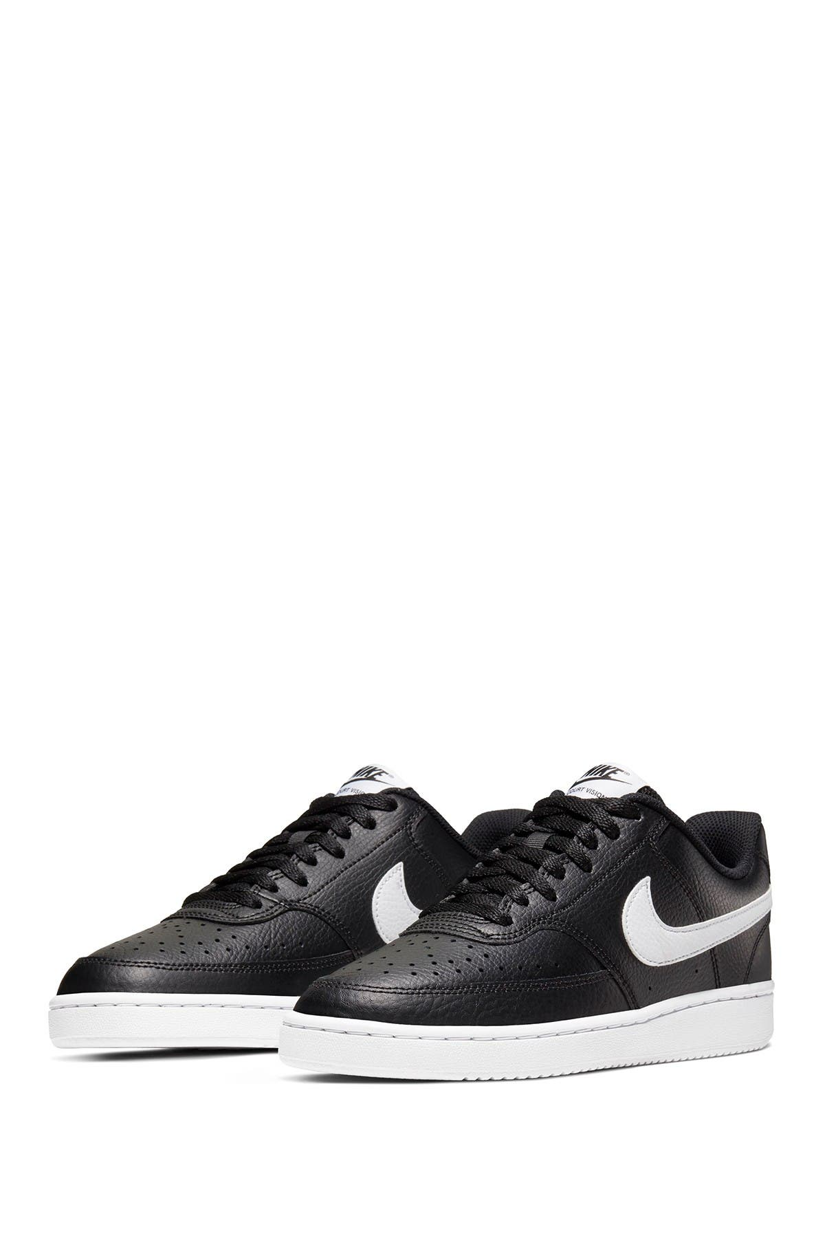 Nike Court Vision Low Sneakers In Black