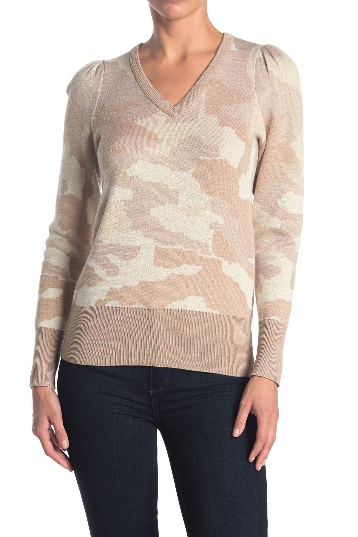 Image of philosophy Camo Puff Sleeve Sweatshirt