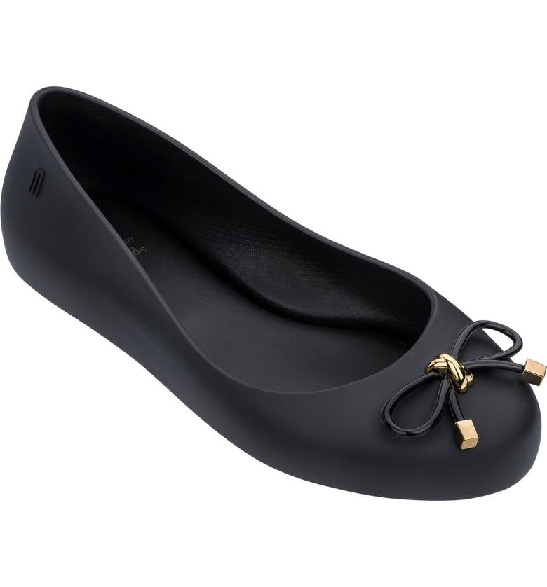 MEL BY MELISSA Sweet Love IV Ballet Flat, Main, color, BLACK