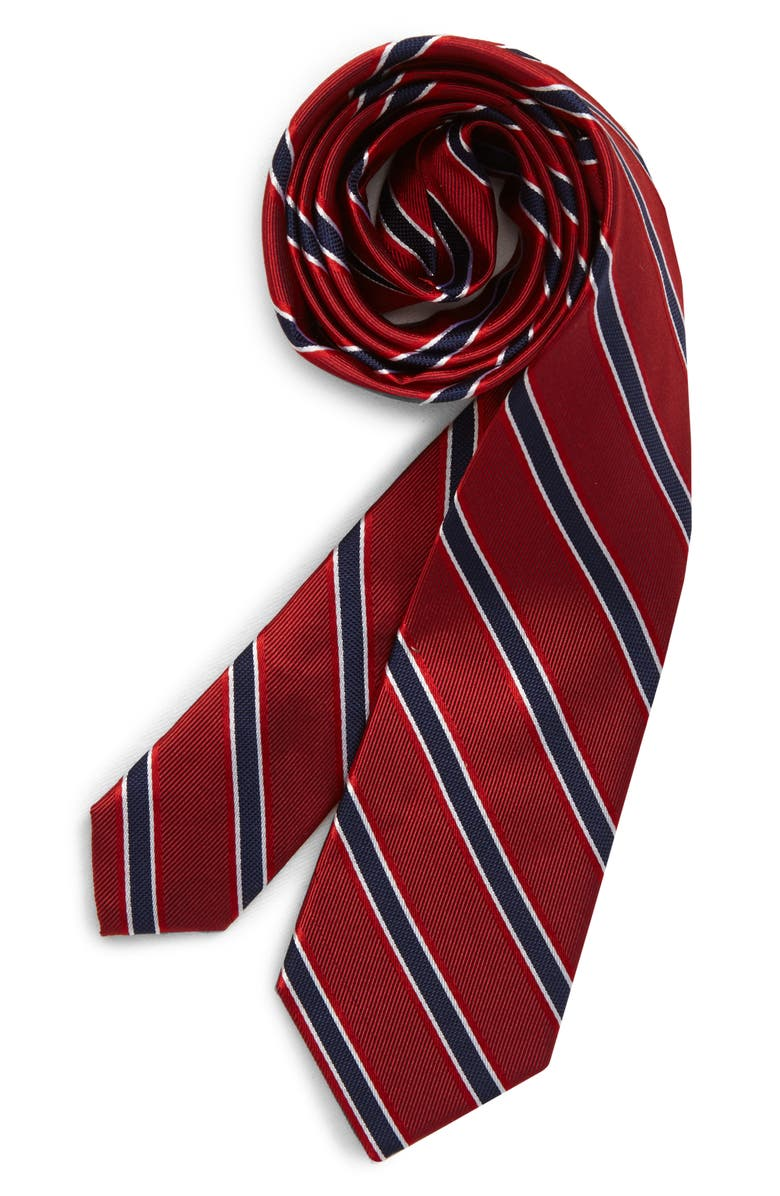 NORDSTROM Alan Plaid Silk Tie, Main, color, RED