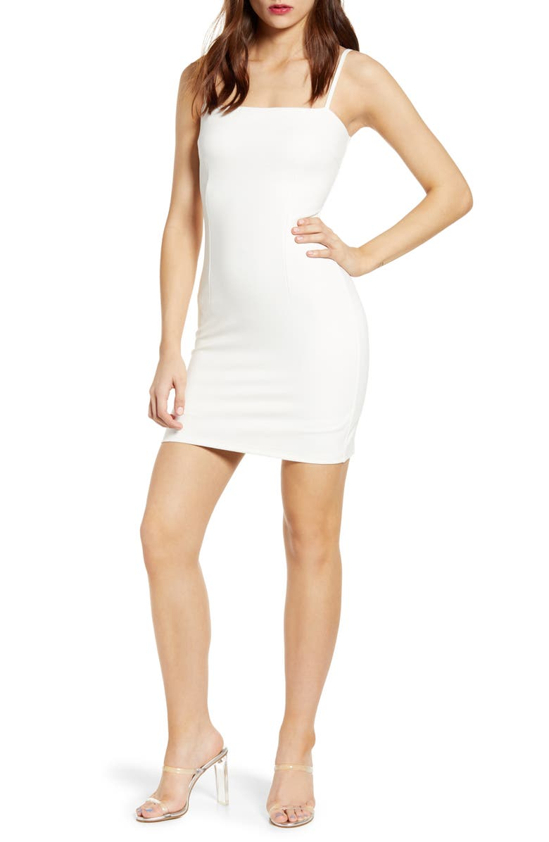 Tiger Mist Take On Body Con Minidress