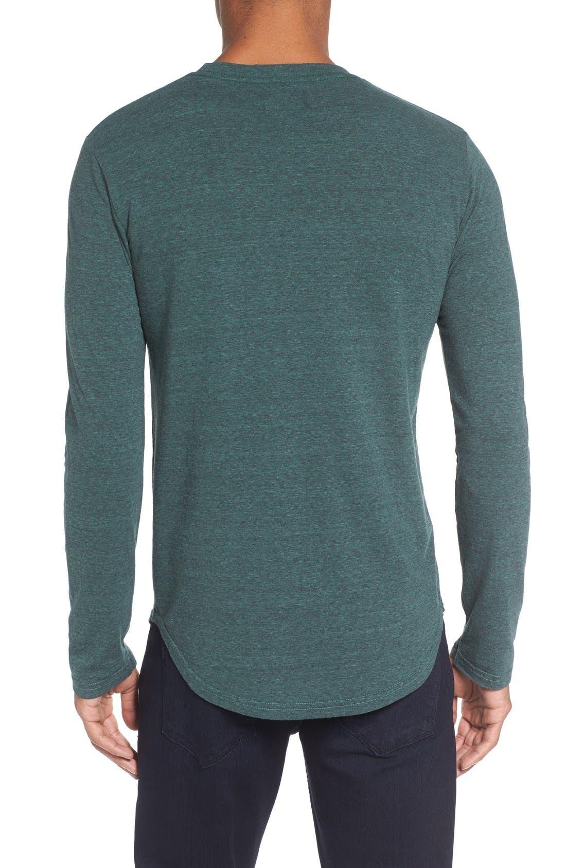,                             Triblend Scallop Long Sleeve Crewneck T-Shirt,                             Alternate thumbnail 23, color,                             305