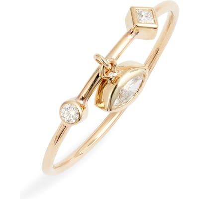 Zoe Chicco Diamond Charm Ring
