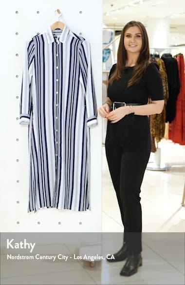 Tan Lines Stripes Cover-Up Shirtdress, sales video thumbnail