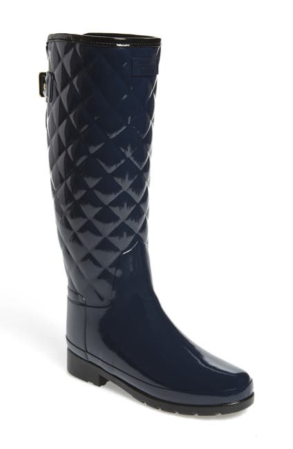 Image of Hunter Original Refined High Gloss Quilted Waterproof Rain Boot