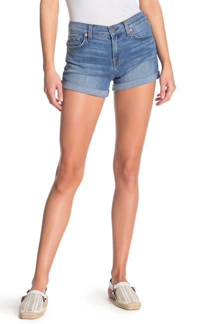 Image of 7 For All Mankind Roll-Up Cuffed Shorts