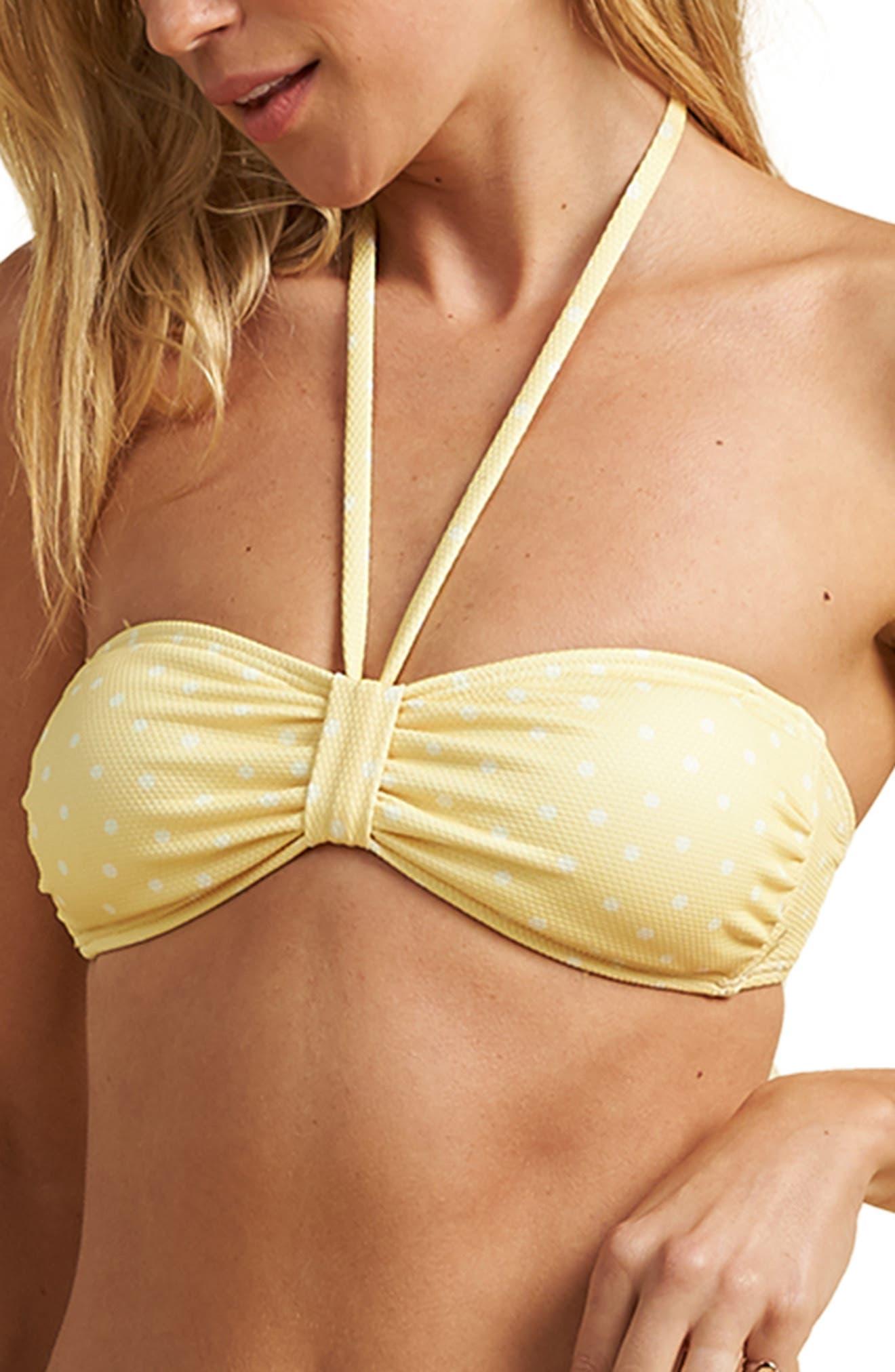 X The Salty Blonde Sundipped Bandea Bikini Top
