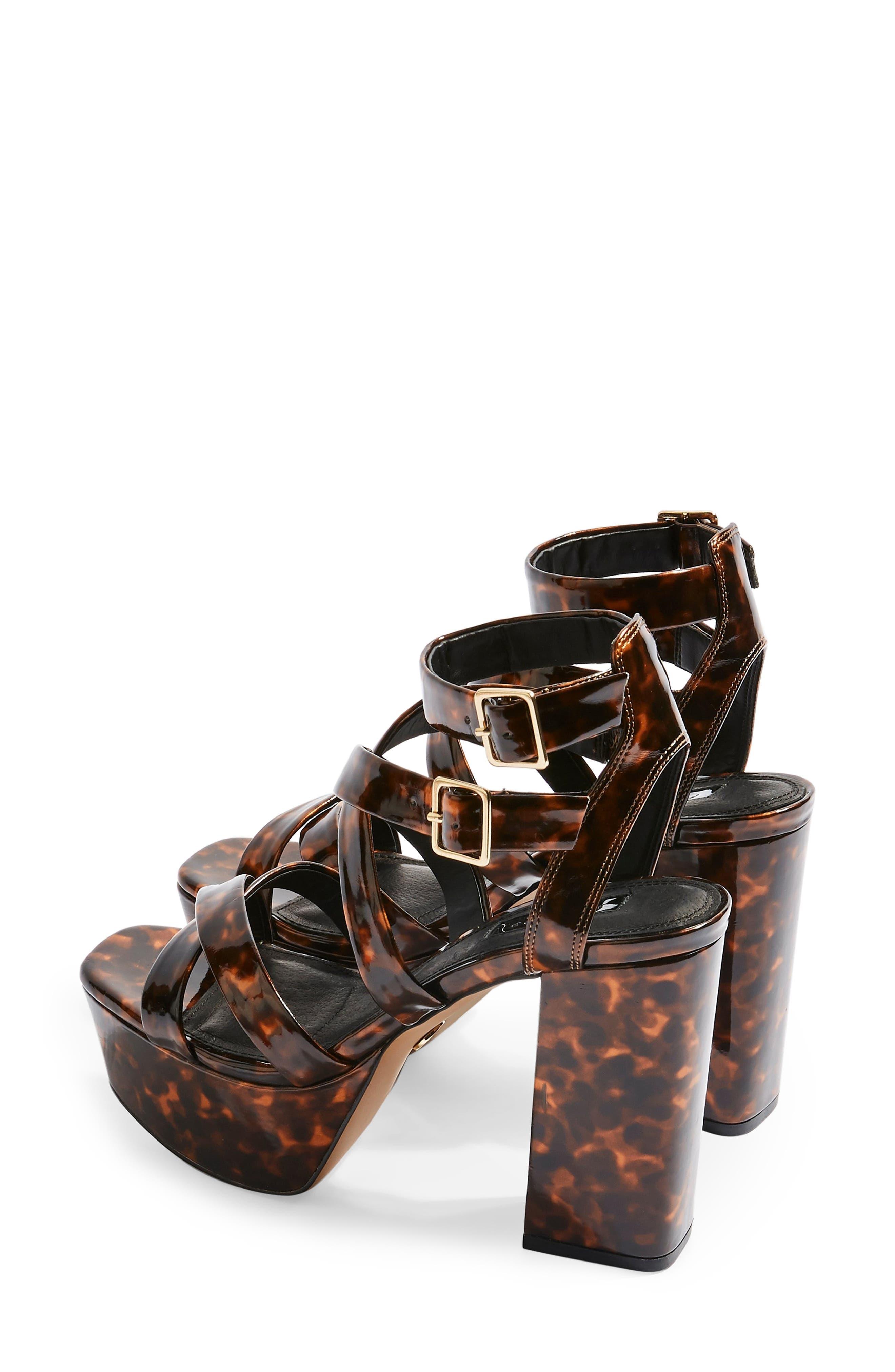 ,                             Radical Strappy Platform Sandal,                             Alternate thumbnail 2, color,                             BROWN MULTI