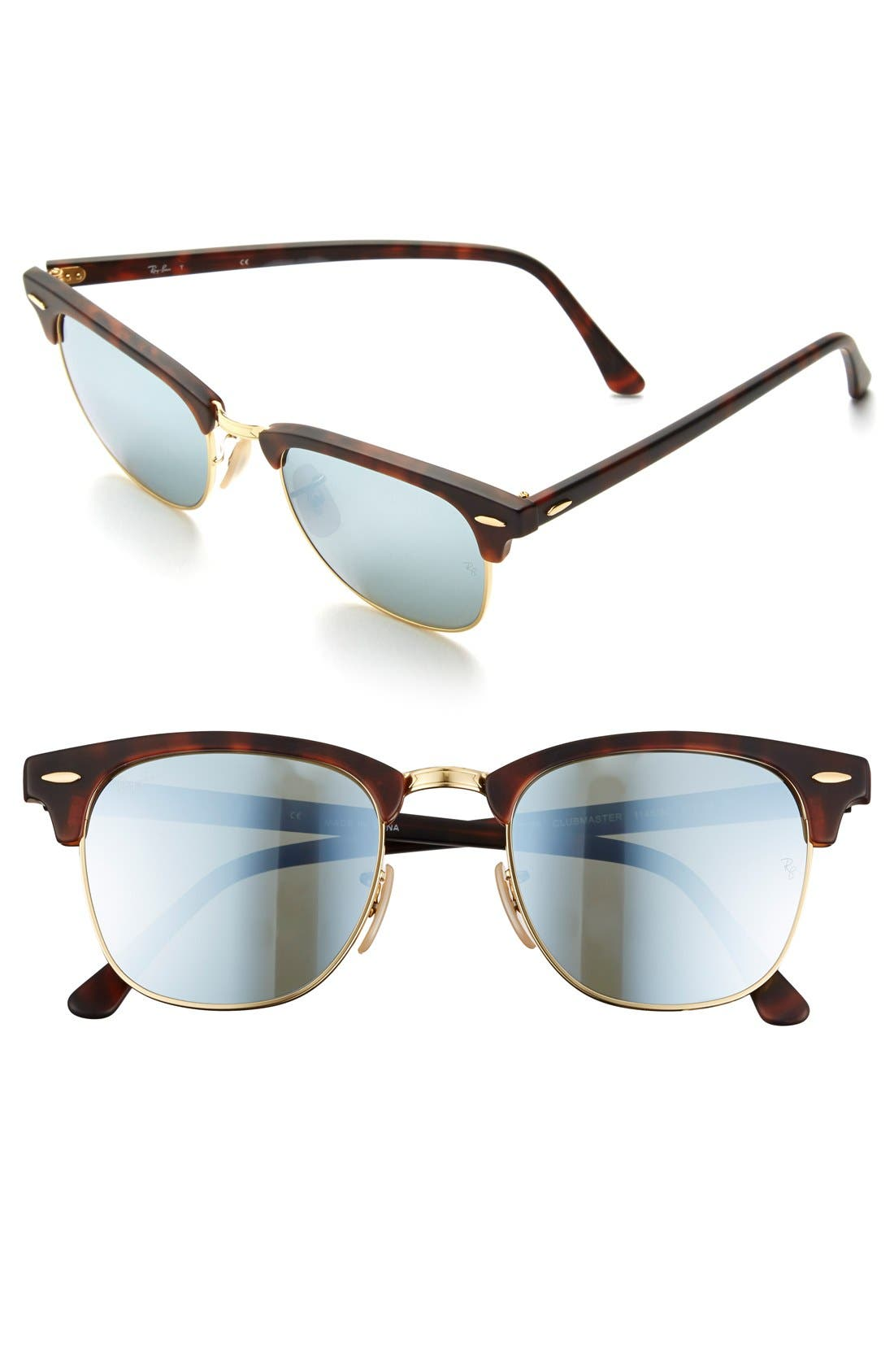 Ray-Ban Flash Clubmaster 51Mm Sunglasses -
