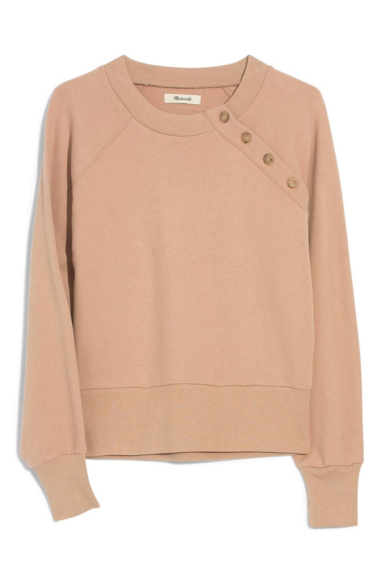 MADEWELL Button Detail Sweatshirt, Main, color, 200