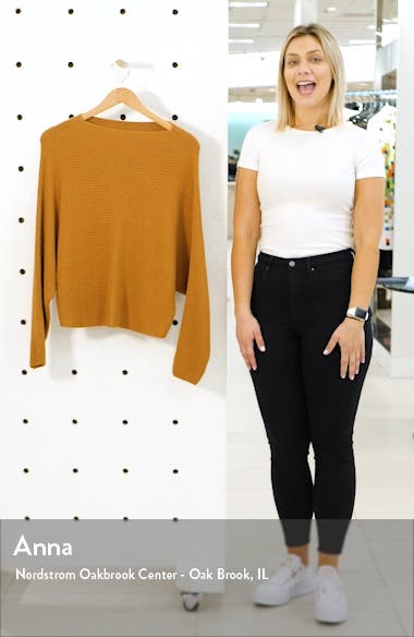 Dolman Sleeve Crop Sweater, sales video thumbnail