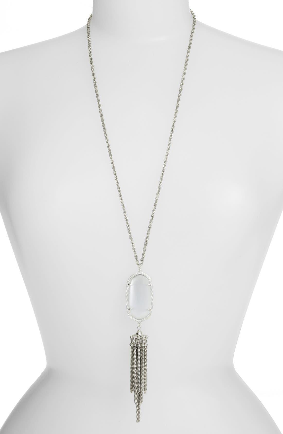 'Rayne' Tassel Pendant Necklace, Main, color, 023