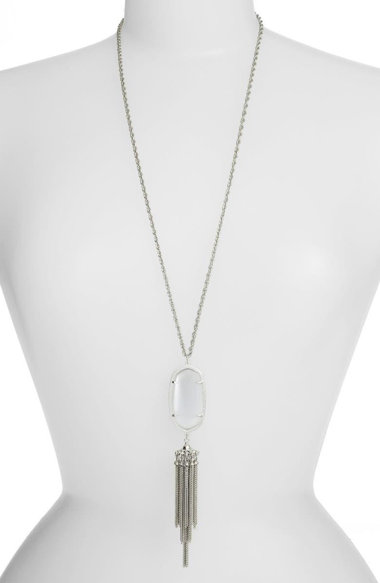 KENDRA SCOTT 'Rayne' Tassel Pendant Necklace, Main, color, 023
