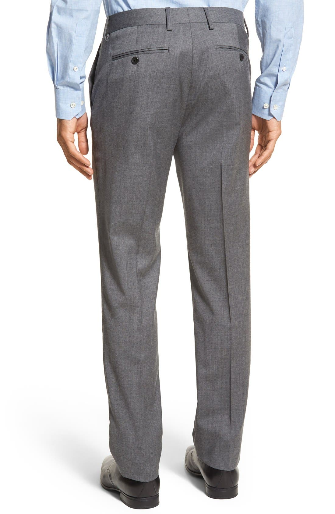 ,                             Jetsetter Slim Fit Flat Front Stretch Wool Trousers,                             Alternate thumbnail 9, color,                             020