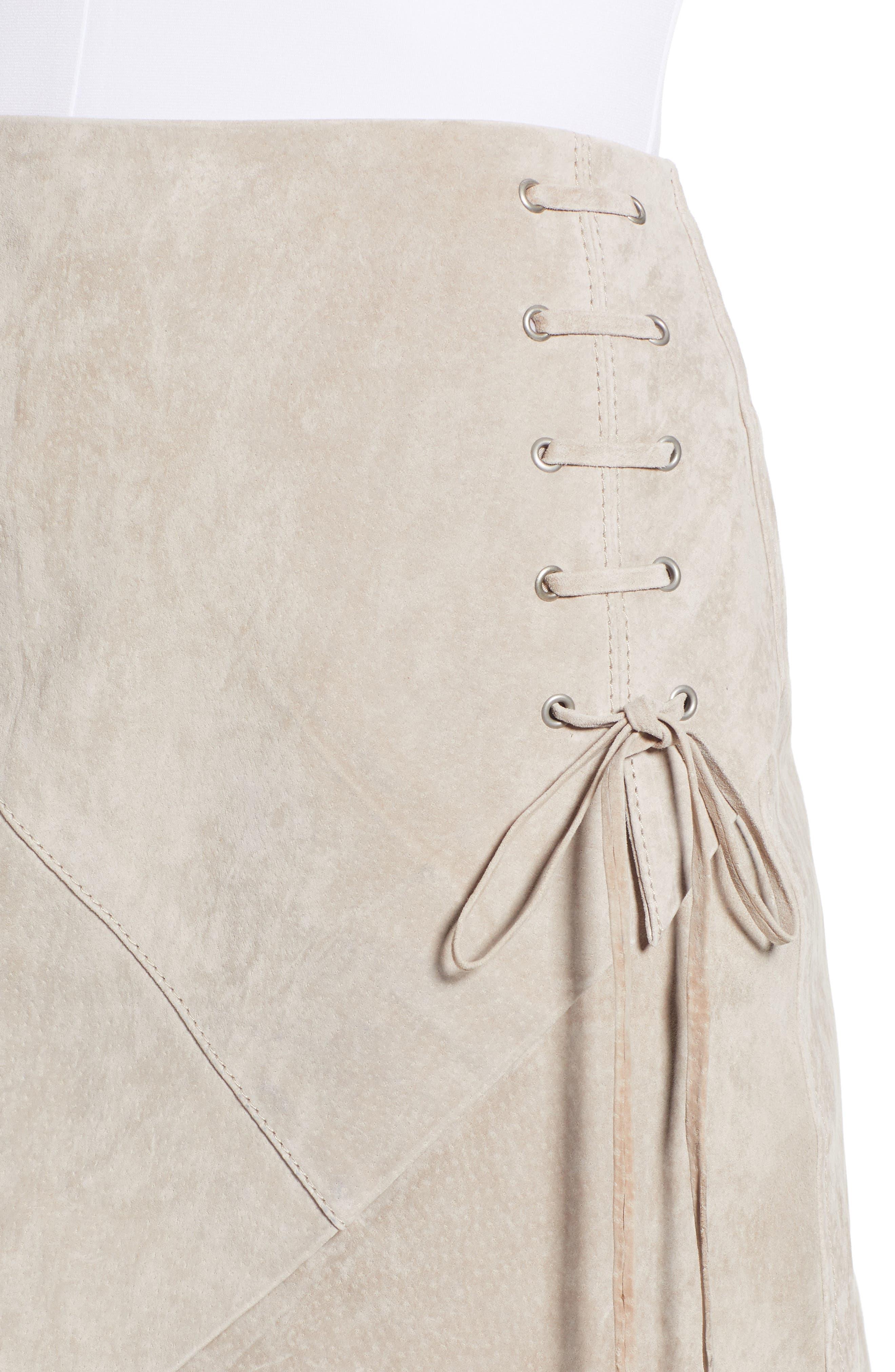 ,                             Lace-Up Suede Miniskirt,                             Alternate thumbnail 10, color,                             251