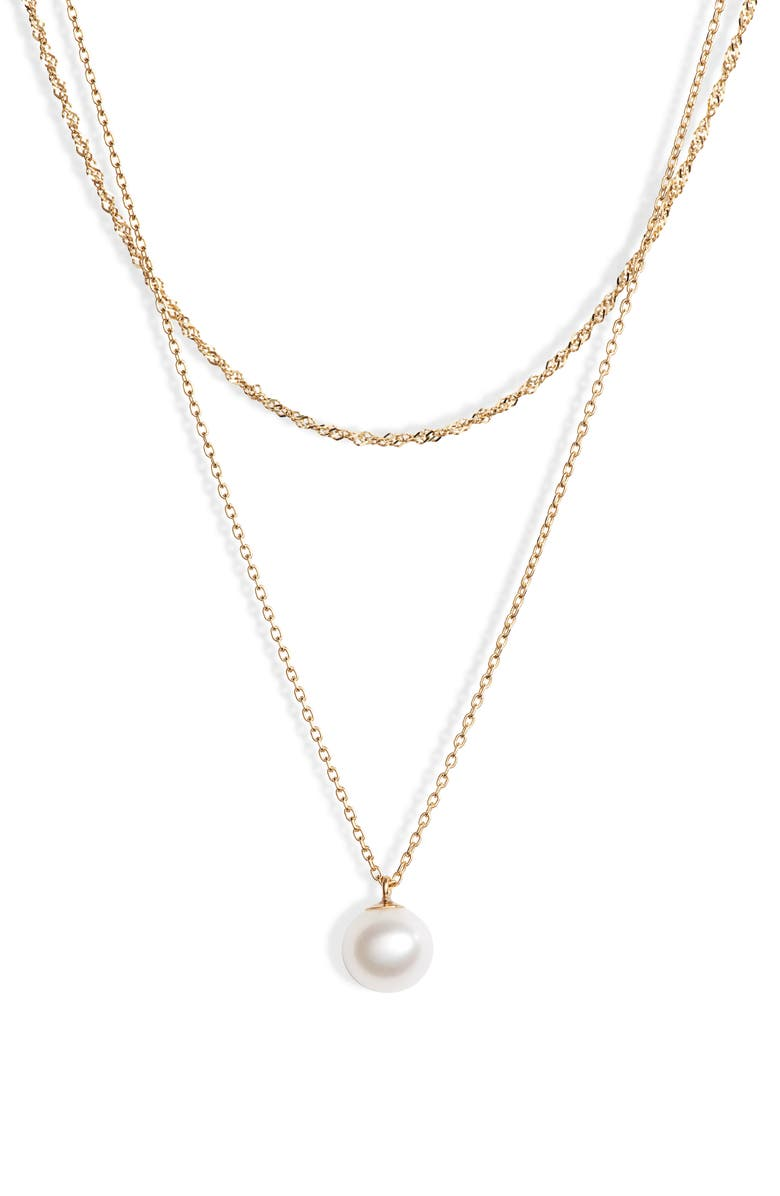 Poppy Finch Pearl Layer Necklace