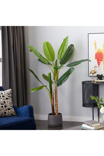 "Image of Willow Row Banana Tree 53"" Artificial Plant, Green"