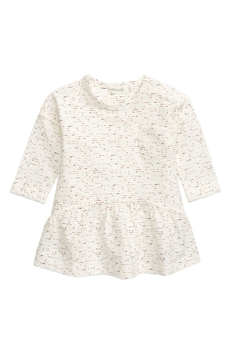 MILES BABY Knit Dress, Main, color, OFF WHITE
