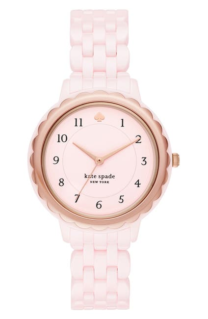 Image of kate spade new york women's morningside ceramic bracelet watch, 38mm