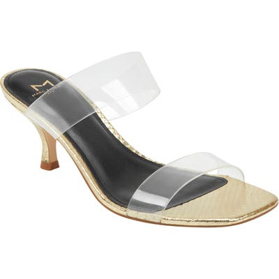 Marc Fisher Ltd Guadia Sandal- Metallic
