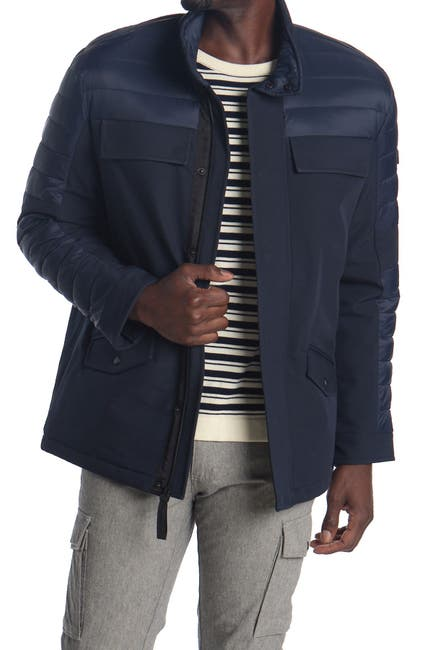 Image of Michael Kors Insulated Soft Shell Quilted Jacket