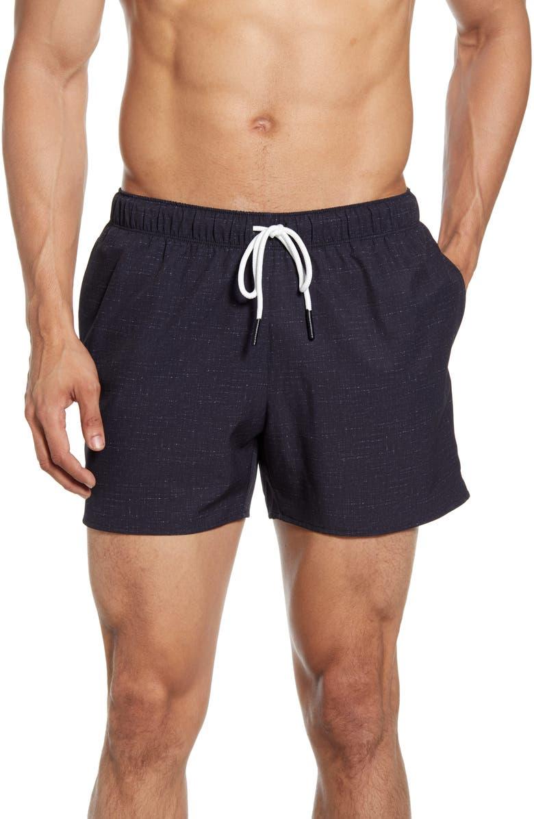 GOODLIFE Volley Swim Shorts, Main, color, BLACK